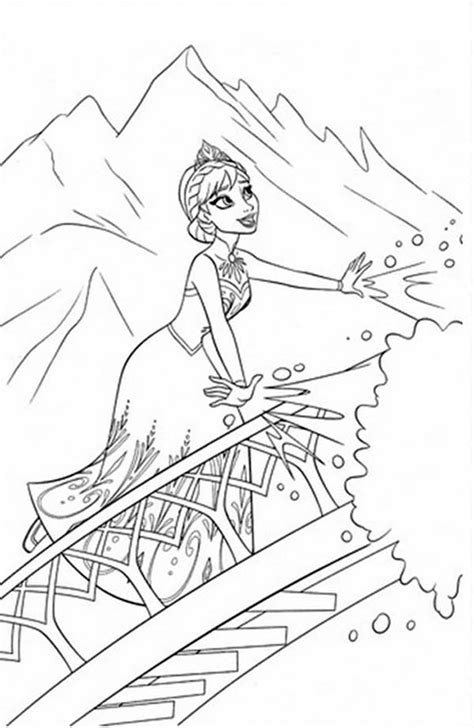 frozen coloring pages elsa castle free coloring pages of castle elsa
