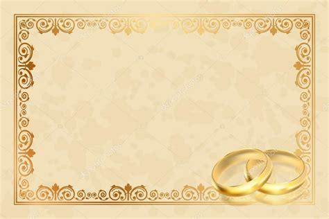 cornici d cornice pergamena di vettore con anelli d oro vettoriali