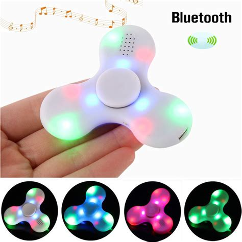 Spinner Bluetooth Musik bluetooth spinner chargeable led fidget spinner stress reducer ebay