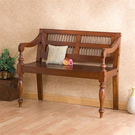 entryway bench seat cheyenne classic rich mahogany wood entryway bench seat