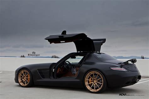 mercedes matte black matte black mercedes benz sls amg adv10 m v2 cs custom