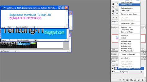 membuat gambar 3d dengan photoshop cara mudah membuat tulisan 3d dengan photoshop hanya 1