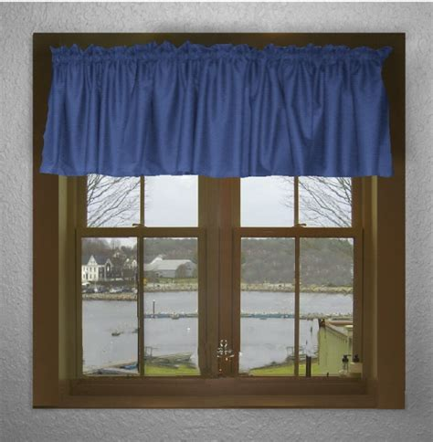 Blue Valance Curtains solid royal blue color valance in many lengths custom size