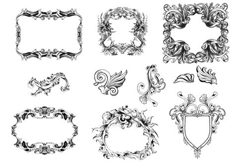 cornici gimp frames brush pack free photoshop brushes at