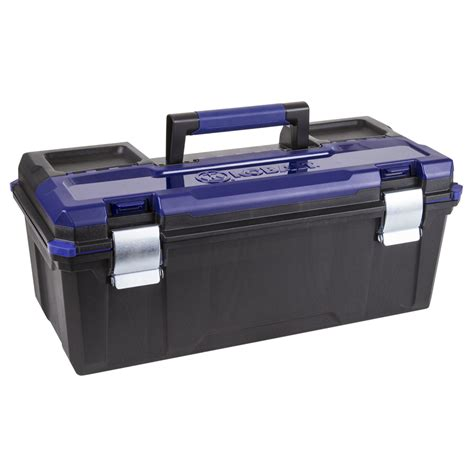 tool box shop kobalt zerust 26 in black plastic lockable tool box