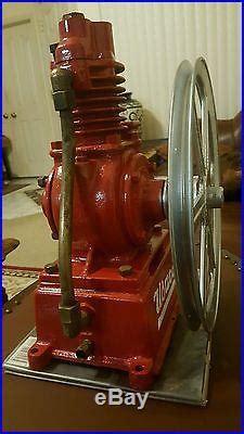 rare vintage usaco air compressor pump piston works