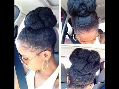 how to make a high bun with kinky twist best high bun hairstyles for black women youtube
