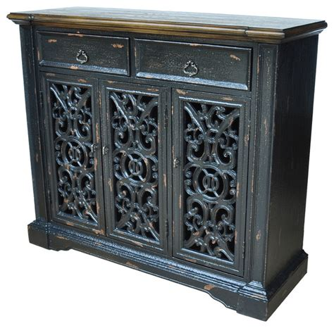 Accent Cabinet With Doors by Nottingham 3 Door Cabinet Mediterranean Accent Chests And