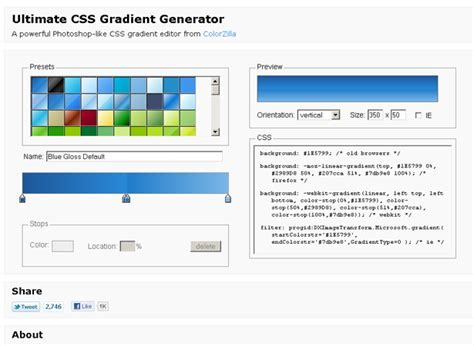 pattern gradient generator 20 enhancing css3 tools and generators webdesigner depot