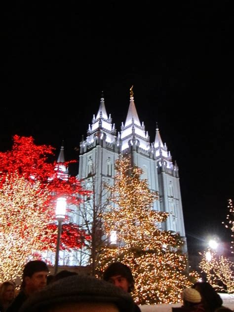 christmas lights at temple square yellow van travels
