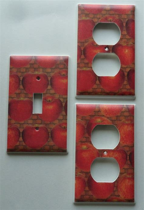 Apples Kitchen Decor Light Switch Outlet Covers Plates Set Kitchen Switch Plates Outlet Covers
