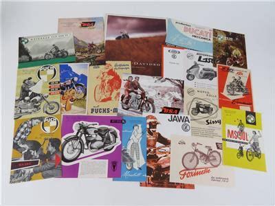 Ktm Motorrad Prospekt by Automobilia Konvolut Prospekte Quot Motorr 228 Der Und Roller