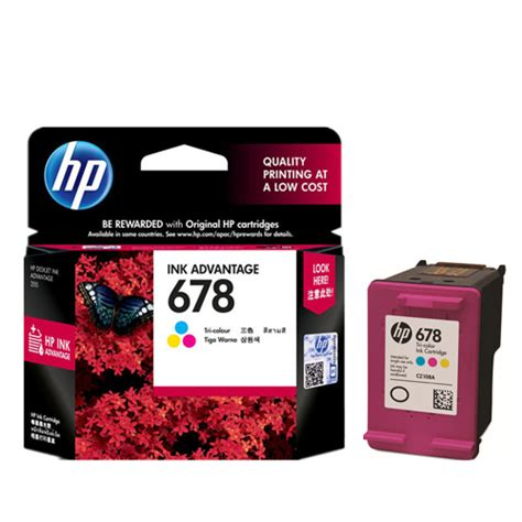 Tinta Reffil Made In Korea Dye Ink Hp 1000 Gram 1 hp 678 tri color ink advantage cartridge cz108aa