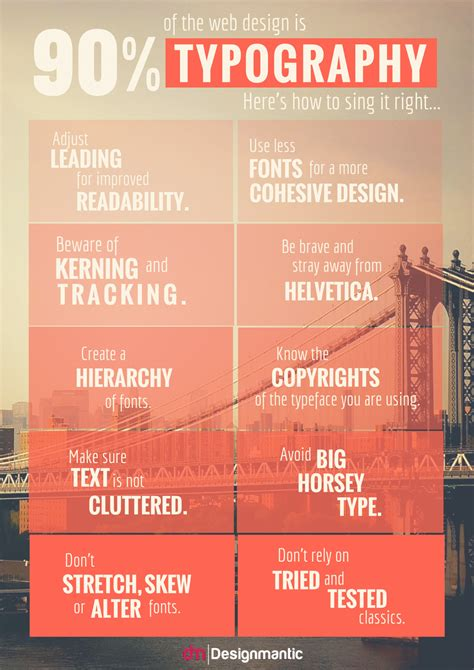 typography infographic infographic brilliant tips on typography for web design