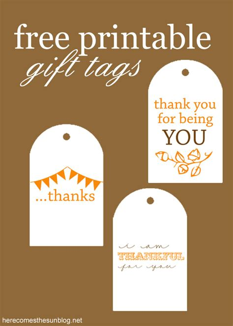 printable tags for teacher gifts free printable gift tags here comes the sun