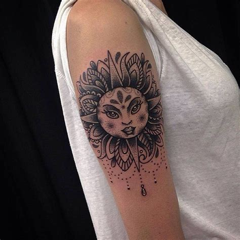 sun tattoo meaning 40 superb sun designs and meaning bright symbol