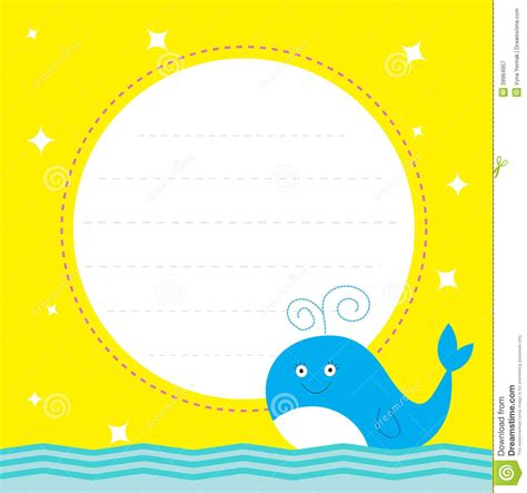 Frame Clipart 1208054 Illustration By by Frame With Whale And Sparkles Happy Birthday