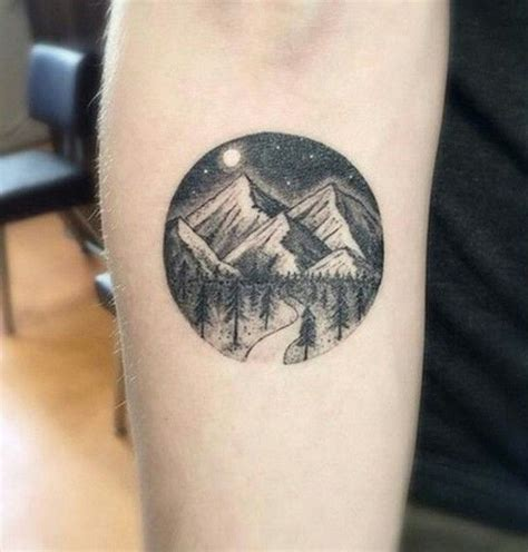 pinterest tattoo circle mountains with road threw forest circle tattoo tattoo