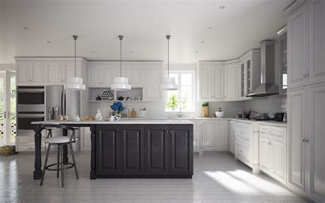 Pre Assembled Kitchen Cabinets by Semi Custom Roosevelt White Pre Assembled Kitchen Cabinets