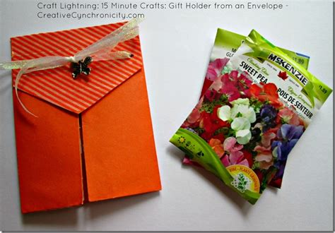 15 minute crafts for craft lightning 15 minute crafts envelope gift holder