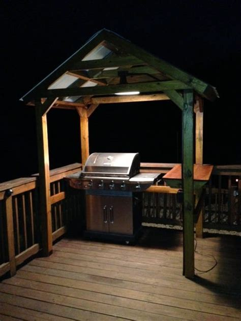 grill gazebo  outdoor light home ideas