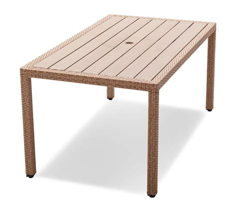 Wicker Patio Tables Strathwood Griffen All Weather Wicker And Resin Dining Table Garden Outdoor