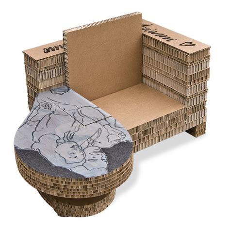 poltrone di cartone poltrona in cartone con tavolo design