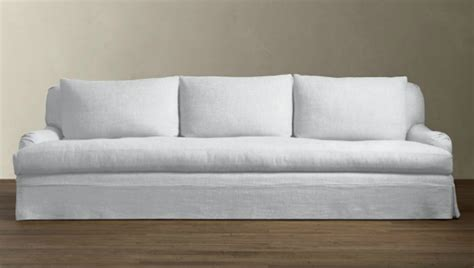 white linen sofa cover 10 easy pieces the perfect white sofa remodelista