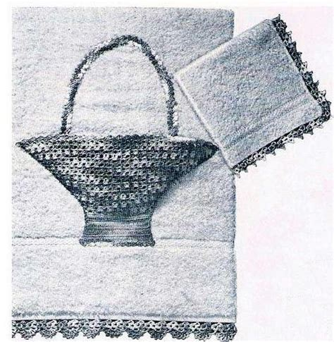 tap pattern c towels thread applique pattern crochet basket and