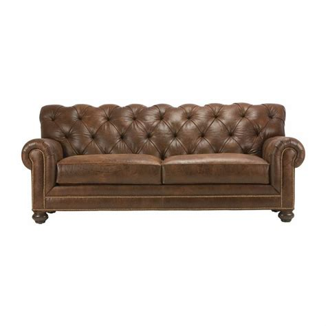 ethan allen leather sectional chadwick leather sofas ethan allen us chesterfield