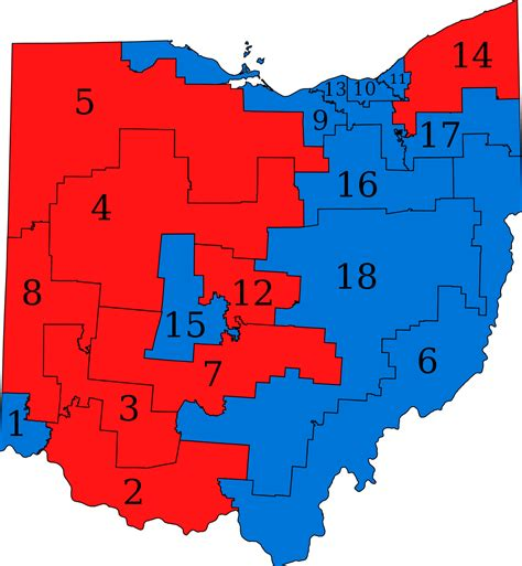 us map by congressional district ohio congressional map my