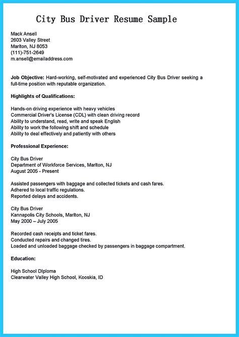 school bus driver resume bus driver resume sample writing service