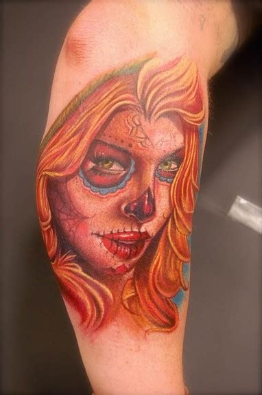 sugar skull lady tattoo designs design ideas and pictures page 4 tattdiz
