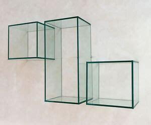 supporti mensole vetro mensole design cubi in vetro in diverse misure inclusi