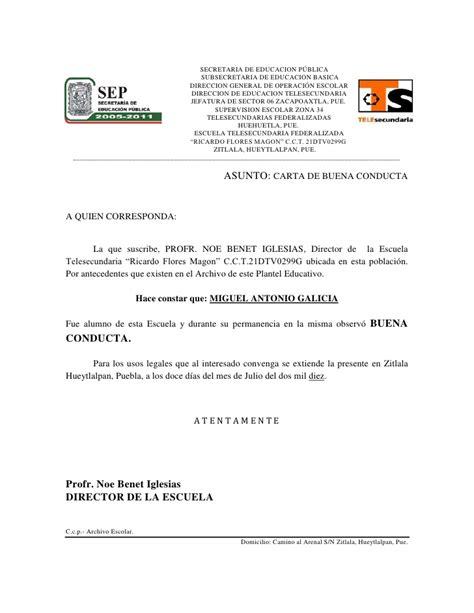carta de buena conducta pr certificado de buena conducta newhairstylesformen2014 com