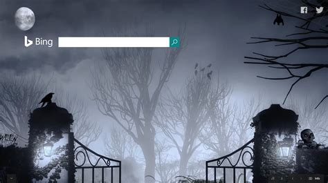 google themes halloween bing dogpile search industry halloween home pages