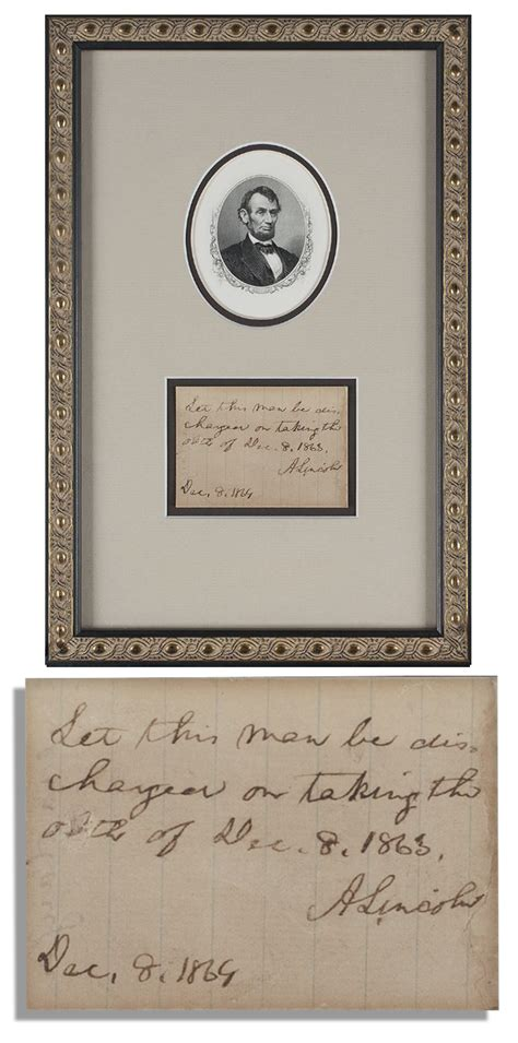 abraham lincoln biography notes lot detail abraham lincoln autograph note signed as