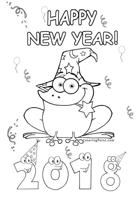 new year 2018 color printable new year 2018 coloring pages