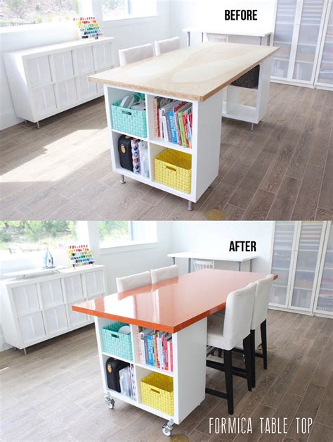 diy craft table building a new home the formica craft table made everyday