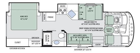 rv floor plans google search route 66 pinterest rv motorhome floor plan with unique inspirational fakrub com