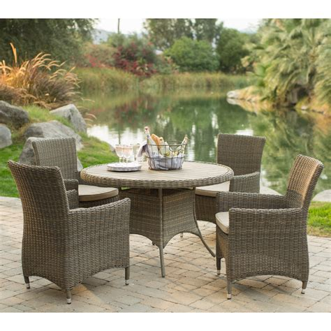All Weather Wicker Patio Dining Sets Belham Living All Weather Wicker Patio Dining Set Patio Dining Sets At Hayneedle