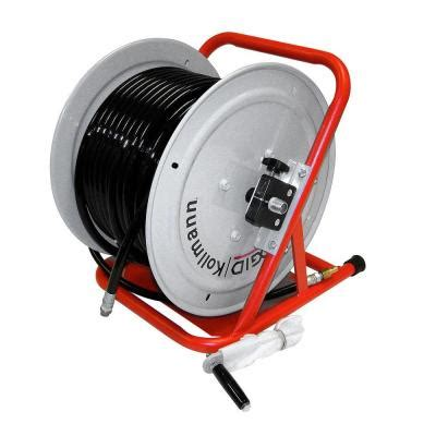 ridgid h 38 wh hose reel with 200 ft x 3 8 in id hose