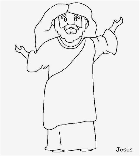 template of jesus jesus coloring page coloring pages
