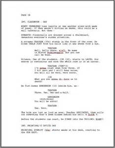 Script Writing Template by How To Format A Screenplay Learning The Screenwriting Formula