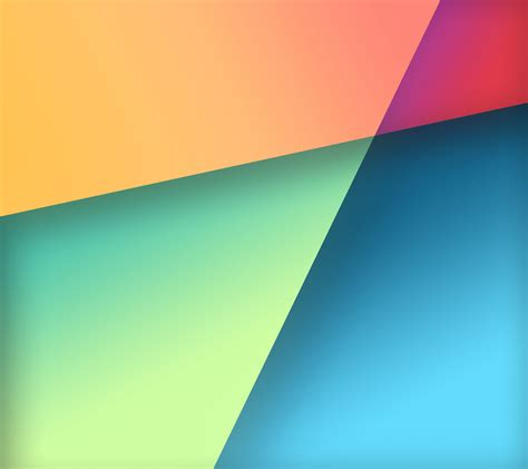 color pattern of google nexus 7 stock wallpaper in google play colors by r3conn3r