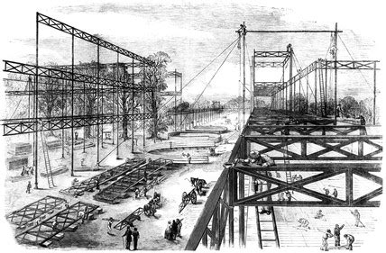 buy house crystal palace constructing the crystal palace hyde park london 1850 at science and society
