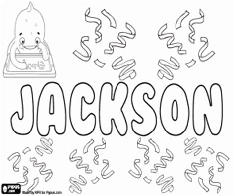 coloring pages with the name jackson boy names with j coloring pages printable games