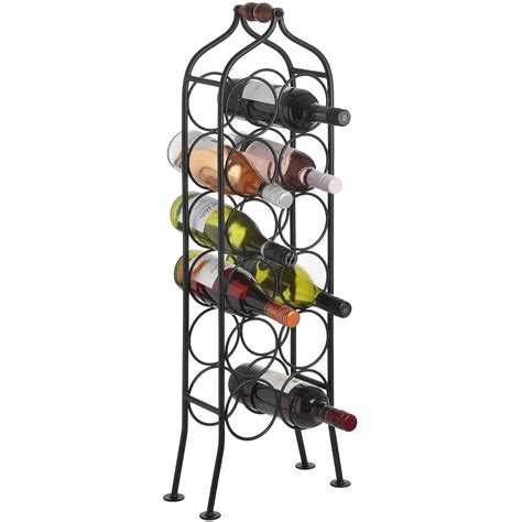12 bottle wrought iron wine rack from baytree interiors