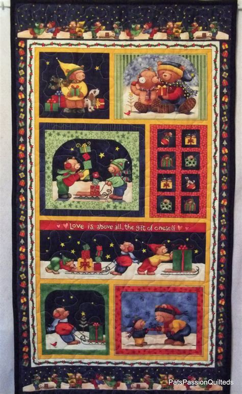 Quilted Wall Hangings by Bears Quilted Wall Hanging