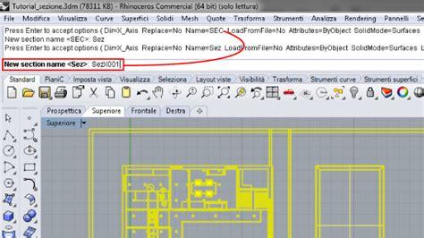 messa in tavola tutorial section tools sezioni e messa in tavola